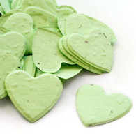 Heart Shaped Plantable Confetti - Pastel Green