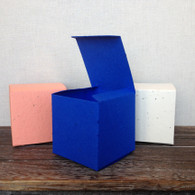 "Plantable Paper Seeded Favor Boxes - 2 3/8"" x 2 3/8"" - 39 colors available"