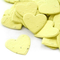 Heart Shaped Plantable Confetti - Pastel Yellow