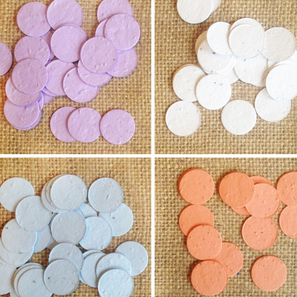 Circle Shaped Plantable Seed Paper Confetti - Pack of 350