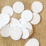 Circle Shaped Plantable Confetti - White