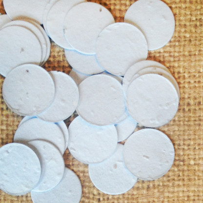 Circle Shaped Plantable Confetti - Blue