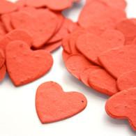 Heart Shaped Plantable Confetti - Tangerine