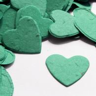 Heart Shaped Plantable Confetti - Teal