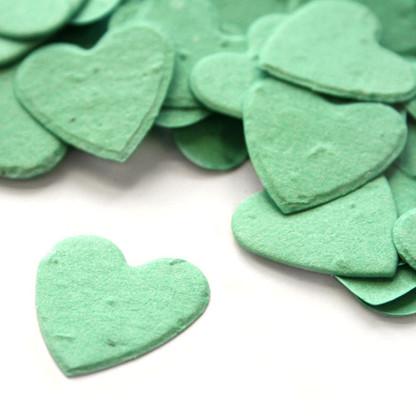 Heart Shaped Plantable Confetti - Aqua