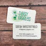 Plantable Business Cards Wildflower Seeded Recycled Paper - Set of 40 in Cream