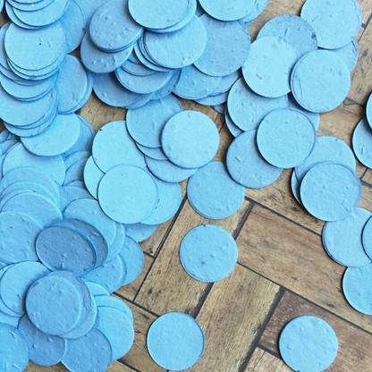 Cornflower Blue Circle Shaped Plantable Confetti
