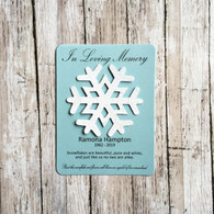 Snowflake Memorial Plantable Wildflower Seed Paper Eco Friendly Favors
