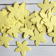 Pastel Yellow Star Shaped Wildflower Seeded Plantable Recycled Paper