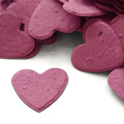 Heart Shaped Plantable Confetti - Berry Purple