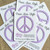 Peace Sign Plantable Wildflower Seed Paper Eco Friendly Favors