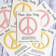 Peace Sign Birthday Plantable Wildflower Seed Paper Eco Friendly Favors
