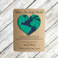 Earth Heart Birthday Plantable Wildflower Seed Paper Eco Friendly Favors