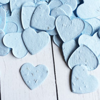 Heart Shaped Plantable Confetti - Blue