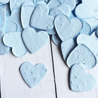Heart Shaped Plantable Confetti - Blue