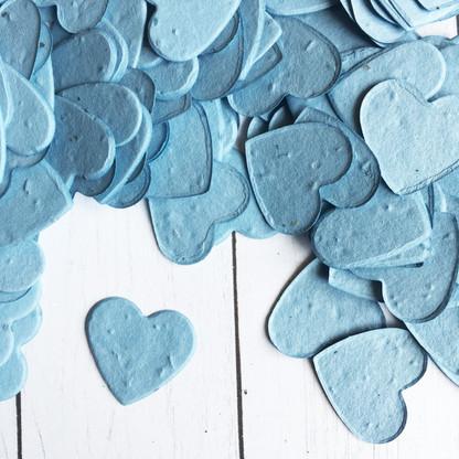 Heart Shaped Plantable Confetti - Cornflower Blue