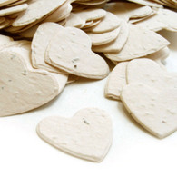 Heart Shaped Plantable Confetti - Cream