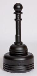 SafeSmoker Receptacle - Poly w/Metal Bucket-Black - 5 Quart
