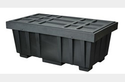 EAGLE 110 Gal. Spill Kit Box w/lid  Black