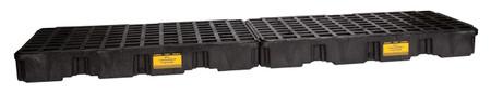 4 Drum InLine Containment Platform - Black w/Drain