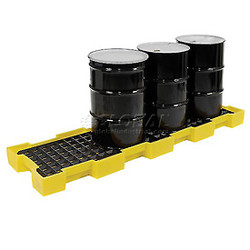 EAGLE 4 Drum InLine Containment Platform - Yellow w/Drain
