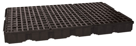 6 Drum Containment Platform - Black w/Drain