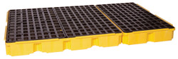 6 Drum Containment Platform - Yellow w/Drain
