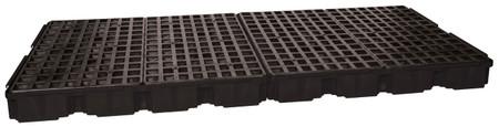 8 Drum Containment Platform - Black w/Drain