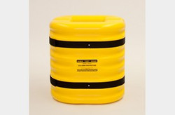 "EAGLE 10"" Column Protector, 24"" High, Yellow"