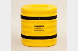 "EAGLE 12"" Column Protector, 24"" High, Yellow"