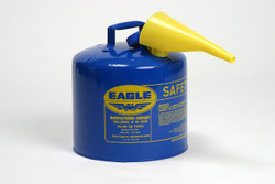Metal - Blue w/F-15 Funnel - 5 Gal.