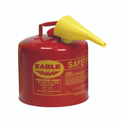 Metal - Red w/F-15 Funnel - 5 Gal.