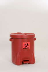 Polyethylene - Red w/Foot Lever - 14 Gal. (947BIO)