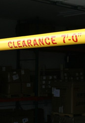 """Innoplast Logo -  """"CLEARANCE X' - XX""""  Red Reflective or Black Non-Reflective Lettering"""