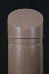 "Innoplast 11"" x 39"" Brown (Dark Monzonite) Granite Decorative Slant Top Bollard Cover #189 (11.15"" ID) (Max pipe height - 27"")"