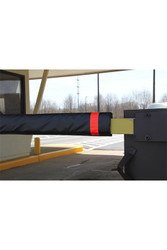 "Innoplast 108"" W Soft Padded Gate Arm Cover (fits standard 1""x4"" gate arm stock) Black w/Red Tape"