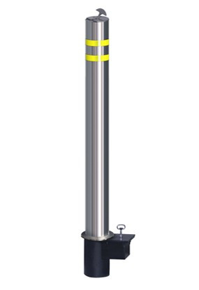 Innoplast 4 5 Quot Diameter Removable Stainless Steel Bollard