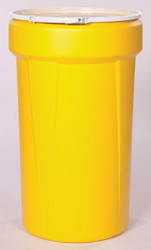 55 Gal. Drum (Yellow) Open-Head Tapered w/ Plastic Ring