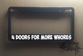 4 doors for more whores plate