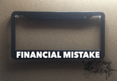 Financial Mistake Plate