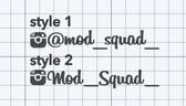 Mod Squad Instagram