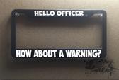 Officer plate