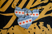 Chicago Heart Keychain