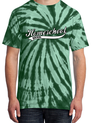 Green Tie-Dye - Homeschool Rocks (Baseball)