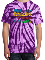 Purple Tie-Dye - Why is it called homeschool if we're always in the van?
