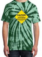 Green Tie-Dye - Caution Unsocialized Homeschooler