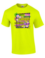 Groovy Christian Girl Neon - Safety Green