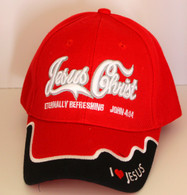Jesus Christ Eternally Refreshing Hat - Red