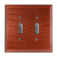 Agate Glass Double Toggle Switch Cover