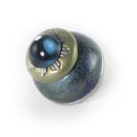 Nu sheba turquoise knob has sapphire blue cabochon